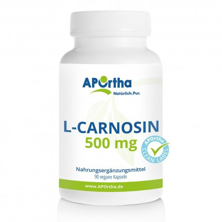 L-Carnosin 500 mg - 90 vegane Kapseln